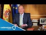 Abdica a su trono el rey de España Juan Carlos I / Abdicated his throne the King of Spain Juan Carl