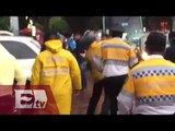 Policía y aficionado se enfrentan a golpes tras partido Cruz Azul-América /Vianey Esquinca
