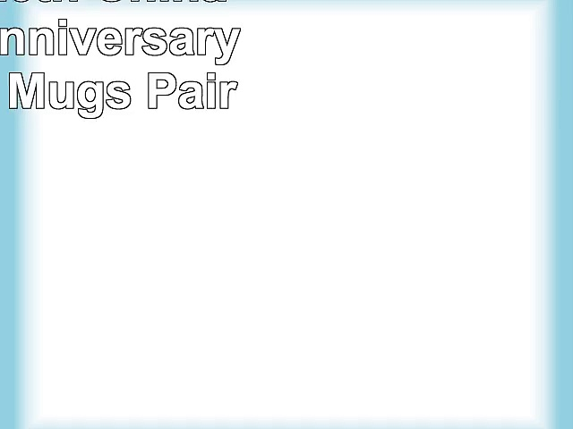 Dreamair 20th China Wedding Anniversary Gift China Mugs Pair