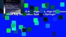 F.R.E.E [D.O.W.N.L.O.A.D] High-Rate, High-Dimensional Quantum Key Distribution Systems (Springer
