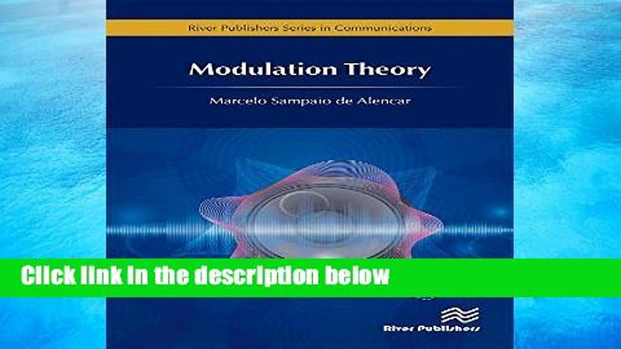 [P.D.F] Modulation Theory (Communications) [E.B.O.O.K]