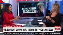 BREAKING NEWS ECONOMY ROARS U S ECONOMY GROWS 4,1 PERCENT THE FASTEST PACE SINCE 2014