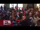 Joven da fuerte puñetazo en la cara a Mariano Rajoy en Pontevedra, España/ Ricardo Salas