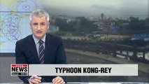 Typhoon Kong-rey approaching Korean Peninsula... 500mm of rain expected in Jeju