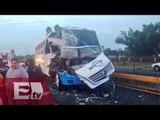 Dos peregrinos muertos en aparatoso accidente en la México- Pachuca / Jazmín Jalil