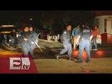 Enfrentamiento entre la policía y aficionados de fútbol en San Luis Potosí / Mariana H