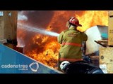 Incendio en Puebla acaba con el mercado La unión