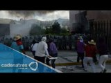 Manifestantes incendian y saquean Iguala