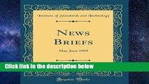 [P.D.F] News Briefs, Vol. 98: May-June 1993 (Classic Reprint) [P.D.F]