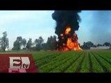 Toma clandestina en Puebla provoca incendio en campo de cultivos/ Vianey Esquinca