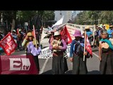 Campesinos bloquean el paso en la avenida Bucareli /  Paola Virrueta