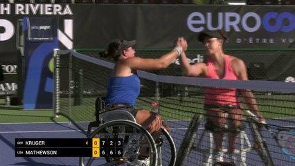 Women's Singles Semi Final - Kruger (GER) vs Mathewson (USA)