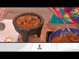 ¡Tradicionales puntas de res en salsa morita! | Sale el Sol