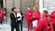 Mons: Face-à-face tendu entre les manifestants et Georges-Louis Bouchez