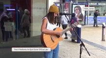 Tina V performs a cover of Dua Lipa in Bristol City Centre