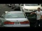 VIDEO: Graban intento de robo de autopartes en Puebla
