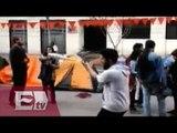 Chilenos instalan campamento en Santiago contra las reformas/ Hiram Hurtado