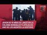 Policía rescata a una joven del suicidio en la CDMX