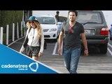 Paulina Rubio recibe muy emocionada a su novio Gerardo Bazua