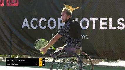 Day 3: quarter finals Men's Singles: Caverzaschi (ESP) vs Peifer (FRA)