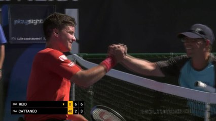 Day 3: quarter finals Men's Singles: Reid (GBR) vs Cattaneo (FRA)