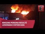 Incendio consume bodegas en zona de Pantaco, Azcapotzalco