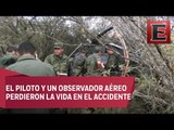 Dos militares muertos en Tamaulipas por desplome de helicóptero