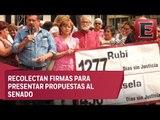 Recolectan firmas para reformar la ley de desaparecidos