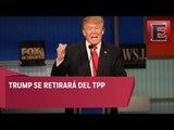 Trump anuncia salida de EU del acuerdo comercial del Pacífico