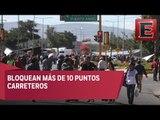 Trabajadores del sector salud realizan bloqueos en Oaxaca
