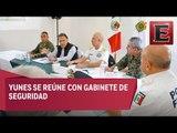Yunes Linares se reúne con gabinete de seguridad