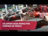 Automovilistas abarrotan las gasolineras previo al alza de precios en combustibles