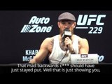 Conor McGregor Says Khabib Nurmagomedov Is 'Petrified' - UFC 229