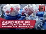 Marinos y federales aseguran en Michoacán precursores químicos