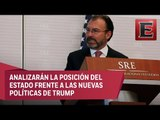 Videgaray se reunirá con senadores por relación México-EU