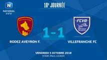 J10 :  Rodez Aveyron F - Villefranche FC (1-1), le résumé
