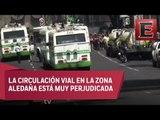 Vecinos de Coyoacán bloquean Avenida Copilco por falta de agua
