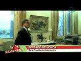 La sobremesa. Luis Miguel invitado especial de la Presidenta de Argentina