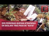 Casas y negocios quedan sepultados tras deslave en Xalapa