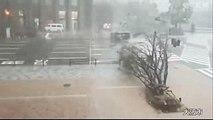 مقاطع مرعبة لأقوى اعصار يضرب اليابان امس يوم الثلاثاء !