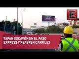 Reabren 3 carriles de Paso Express de Cuernavaca