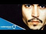 """Johnny depp promociona  """"El llanero solitario"""" /.Johnny Depp promotes his new film The Lone Ranger."""