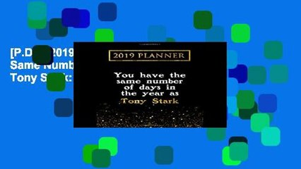 p d f 2019 planner you have the same number of days in the year as tony stark tony stark 2019