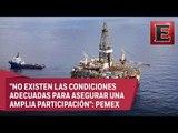 Mauricio Flores: Pemex aplaza concurso para explotación de aguas profundas