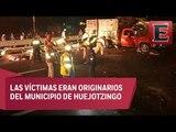 Accidente vial  en la México-Puebla deja 10 peregrinos muertos