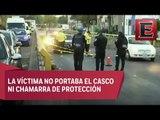 Hombre derrapa en su moto y pierde la vida en la Miguel Hidalgo