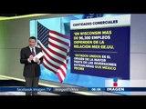 El valor comercial entre México y Estados Unidos