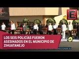 Despiden con honores a policías asesinados en Guerrero