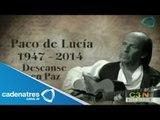 Muere Paco de Lucía a causa de un infarto / Paco de Lucia dies because of a heart attack
