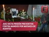 Sepultan a uno de los seis policías asesinados en Amozoc, Puebla